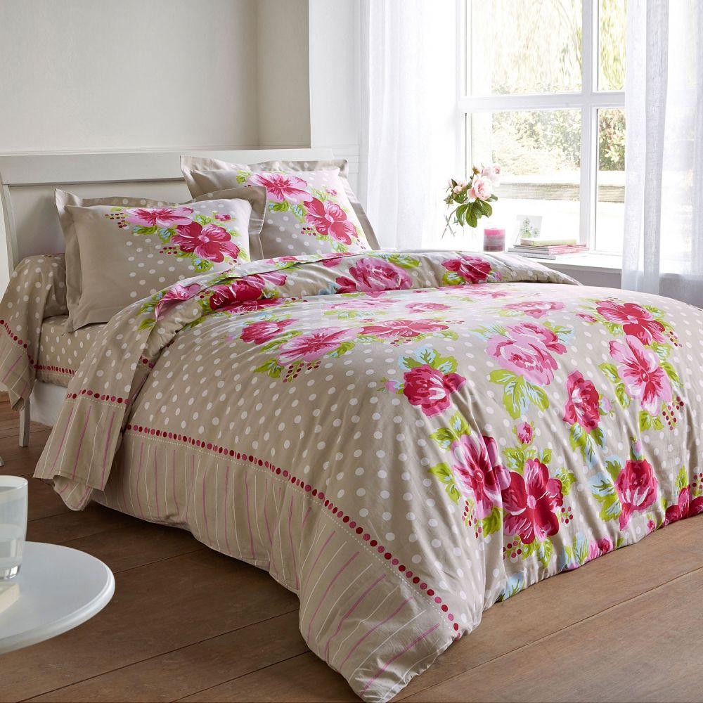 Parure de lit en coton, un joli jardin secret… #home #deco #bed ...