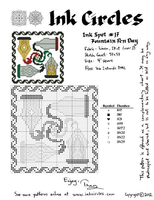 The Fountain on the Square Chart Counted Cross Stitch Patterns Needlework