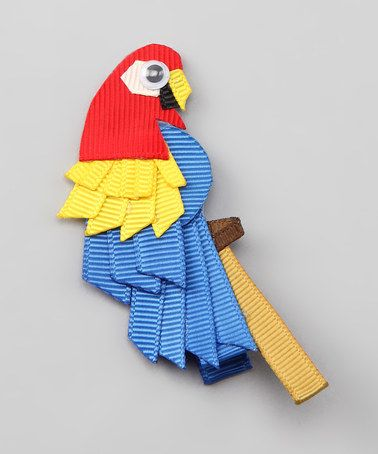Take a look at this Red & Blue Parrot Clip by Bubbly Bows on #zulily today!