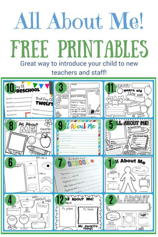 All About Me 12 Free Printable Worksheets To Introduce Your Child