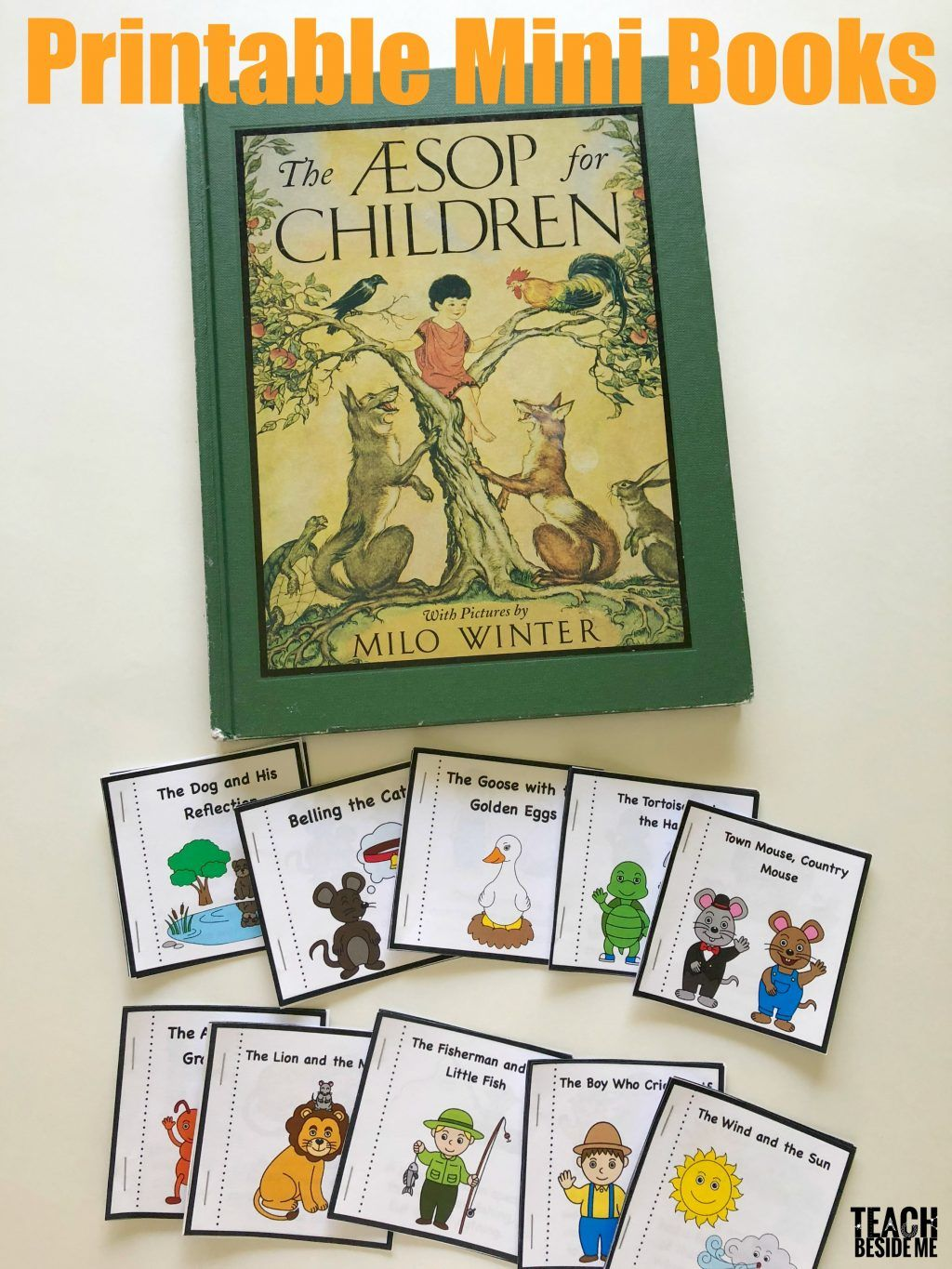 Aesop S Fables Printable Books Aesop S Fables For Kids Fables