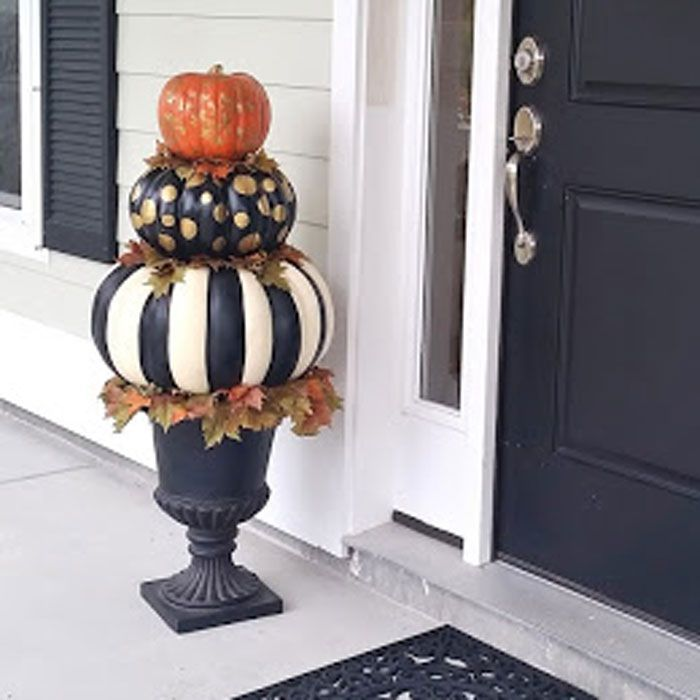 Pumpkin Topiary Ideas Part - 48: The 32 Best Pumpkin Decorating Ideas Youu0027ve Ever Seen | Pumpkin Topiary