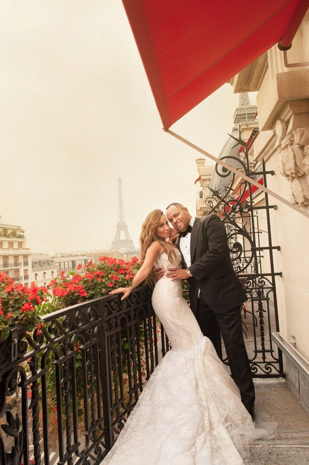 Photo of Your Favorite Disney Star, Adrienne Bailon Tied the Knot in Paris!