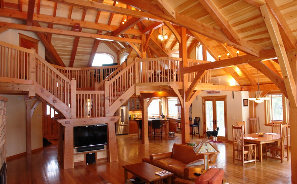 post frame house plans of this home or browse more timber frame
