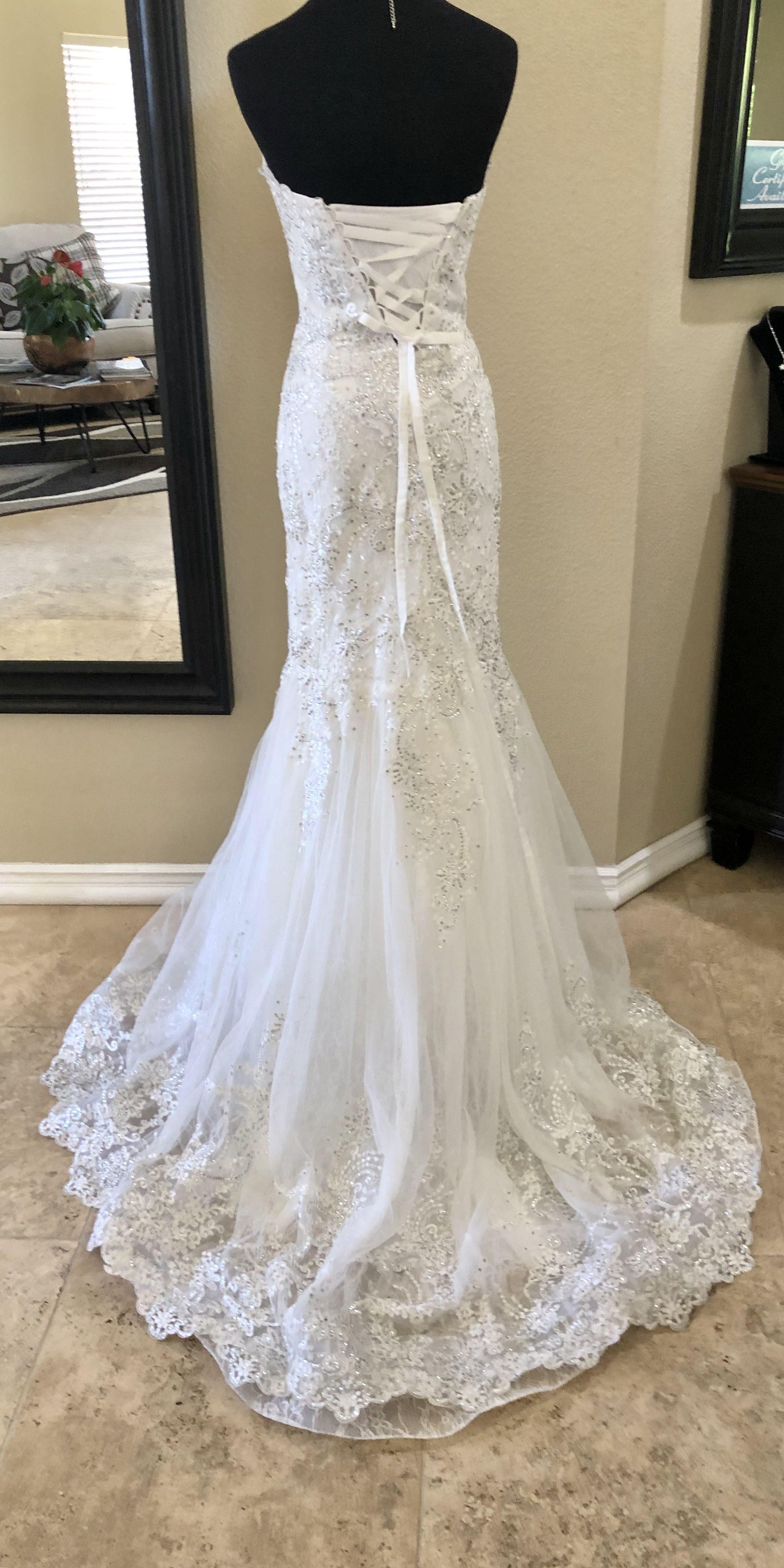XS new wedding dress   Neue brautkleider, Kleider, Kleid hochzeit