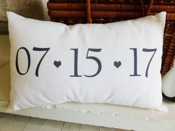 Gift Save The Date Pillow for Wedding