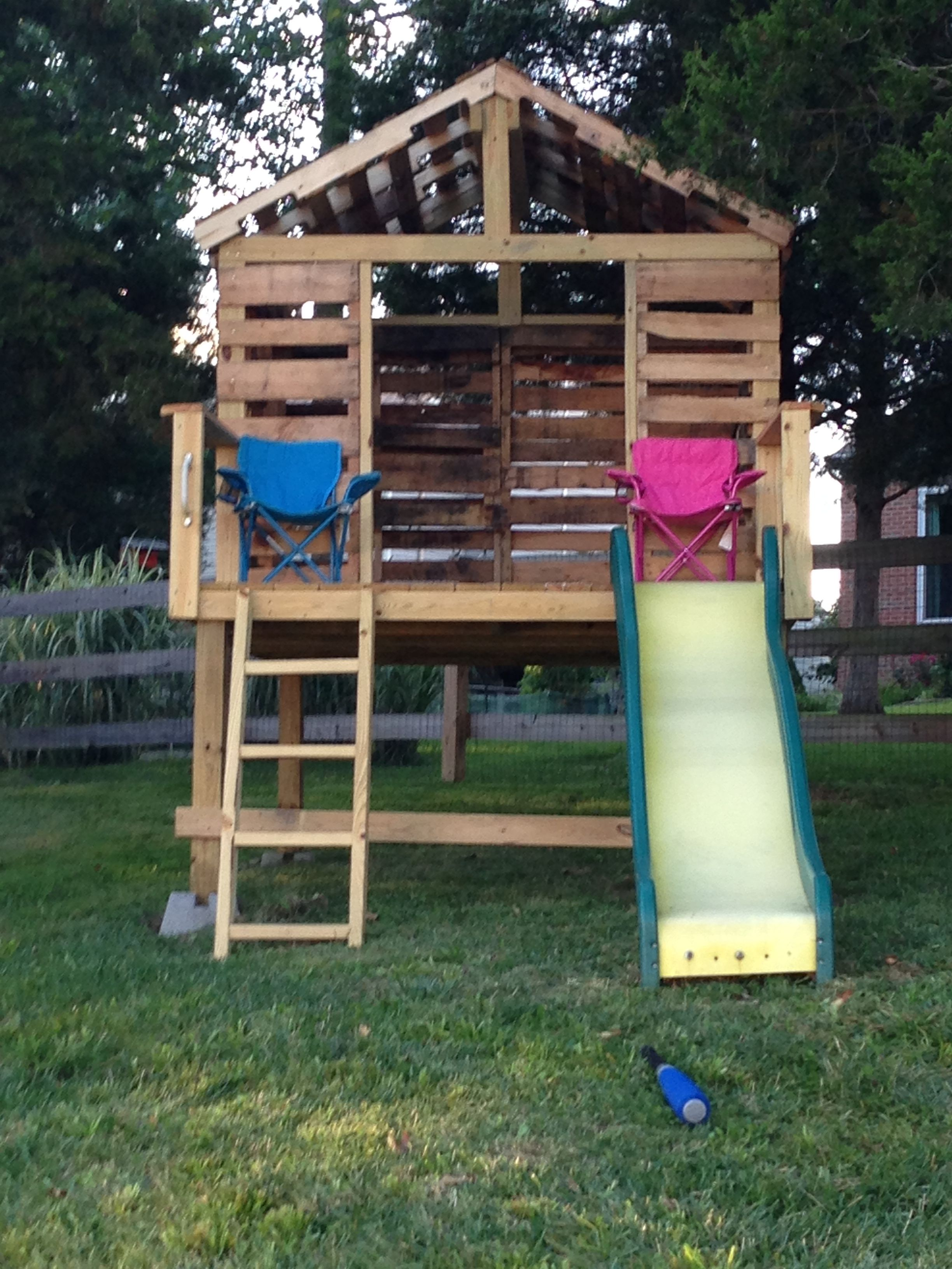 Kids Pallet Clubhouse Pallet Tree Houses Pallet Kids Kids