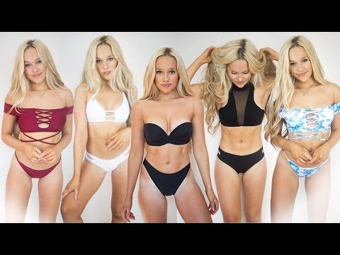 636d52fd5b927 2017 BIKINI TRY-ON HAUL I SWEALIFE (UpBra   Yoshop) - YouTube Can your  Swimwear do this!  First adjustable cleavage and lift swim that lasts all  day.