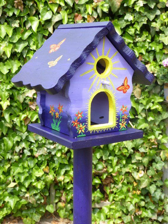 Nistkasten Bunt Colourful Birdhouse, Nest Box, Bird Houses | Birdhouses