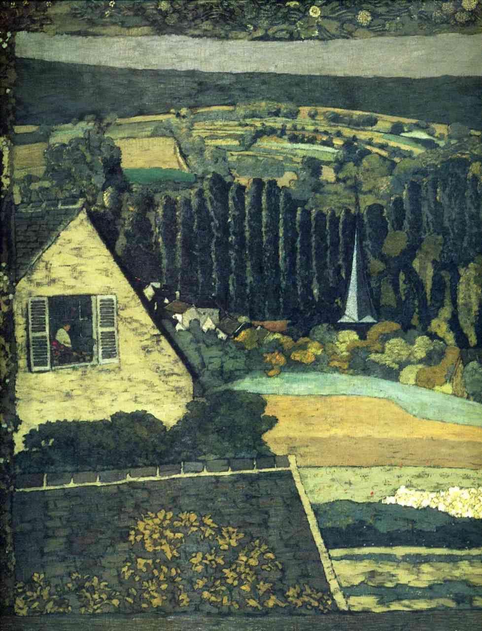 Edouard Vuillard:  Window overlooking the Woods (1899)