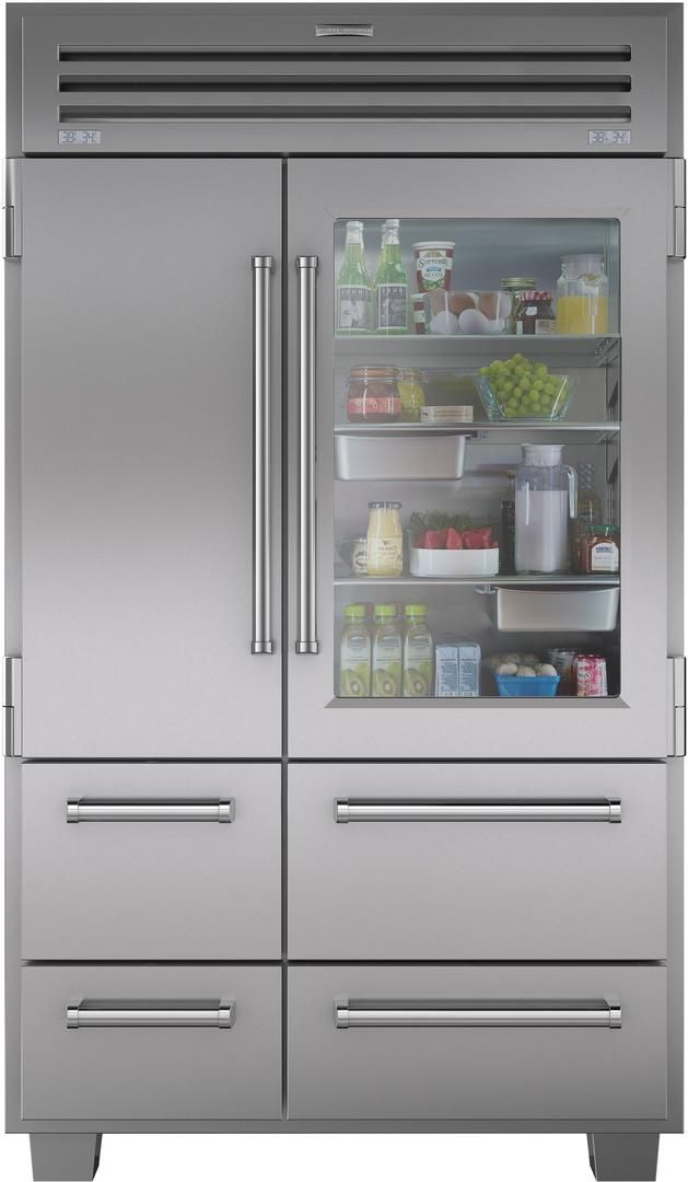 Sub Zero 648prog 48 Inch Stainless Steel Side By Side Refrigerator With 30 2 Cu Ft Capacity Glass Door Refrigerator Refrigerator Sale Built In Refrigerator