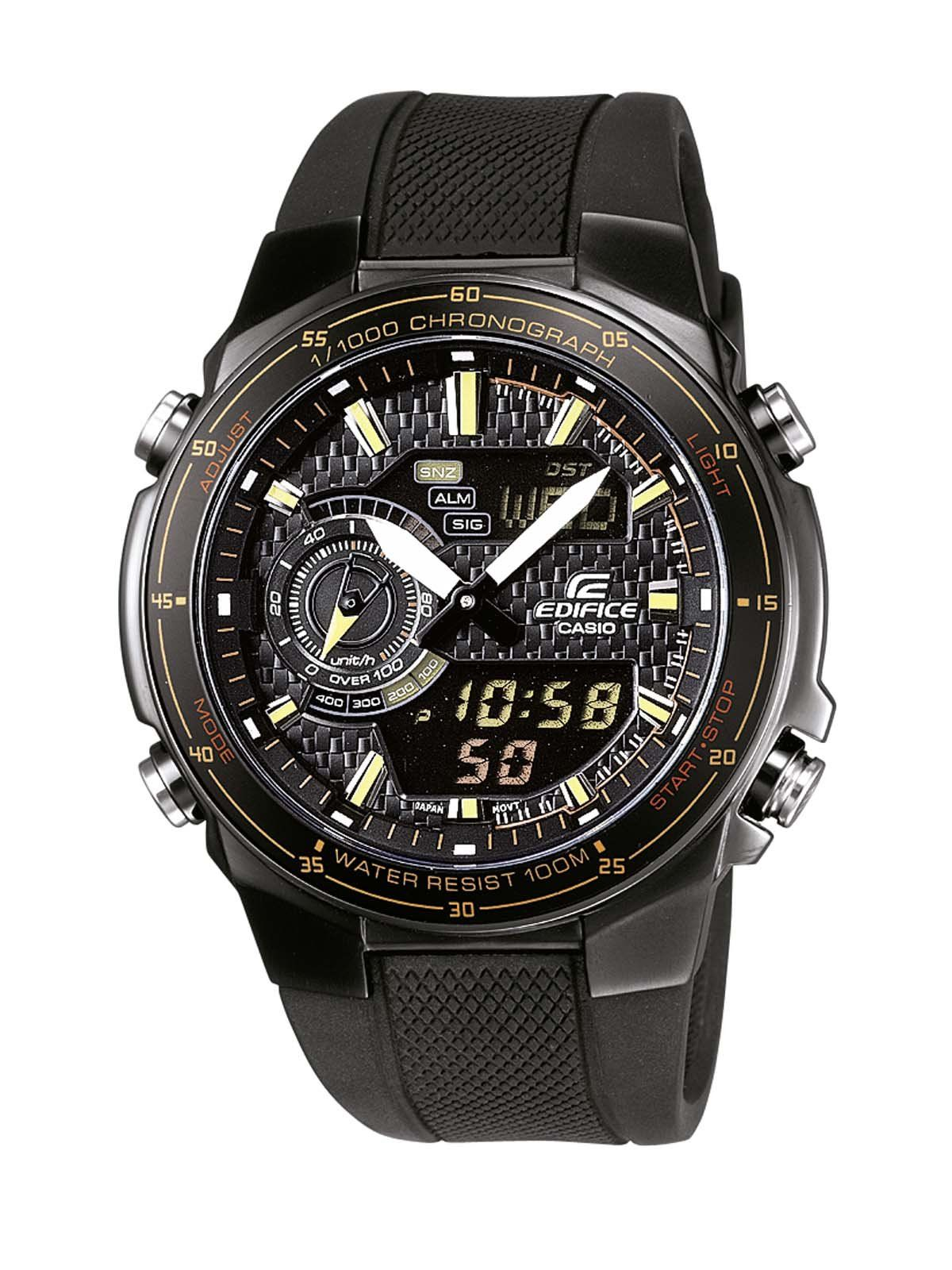 CASIO EFA-131PB-1AVEF - Reloj de caballero de cuarzo, correa de resina color negro: Amazon.es: Relojes