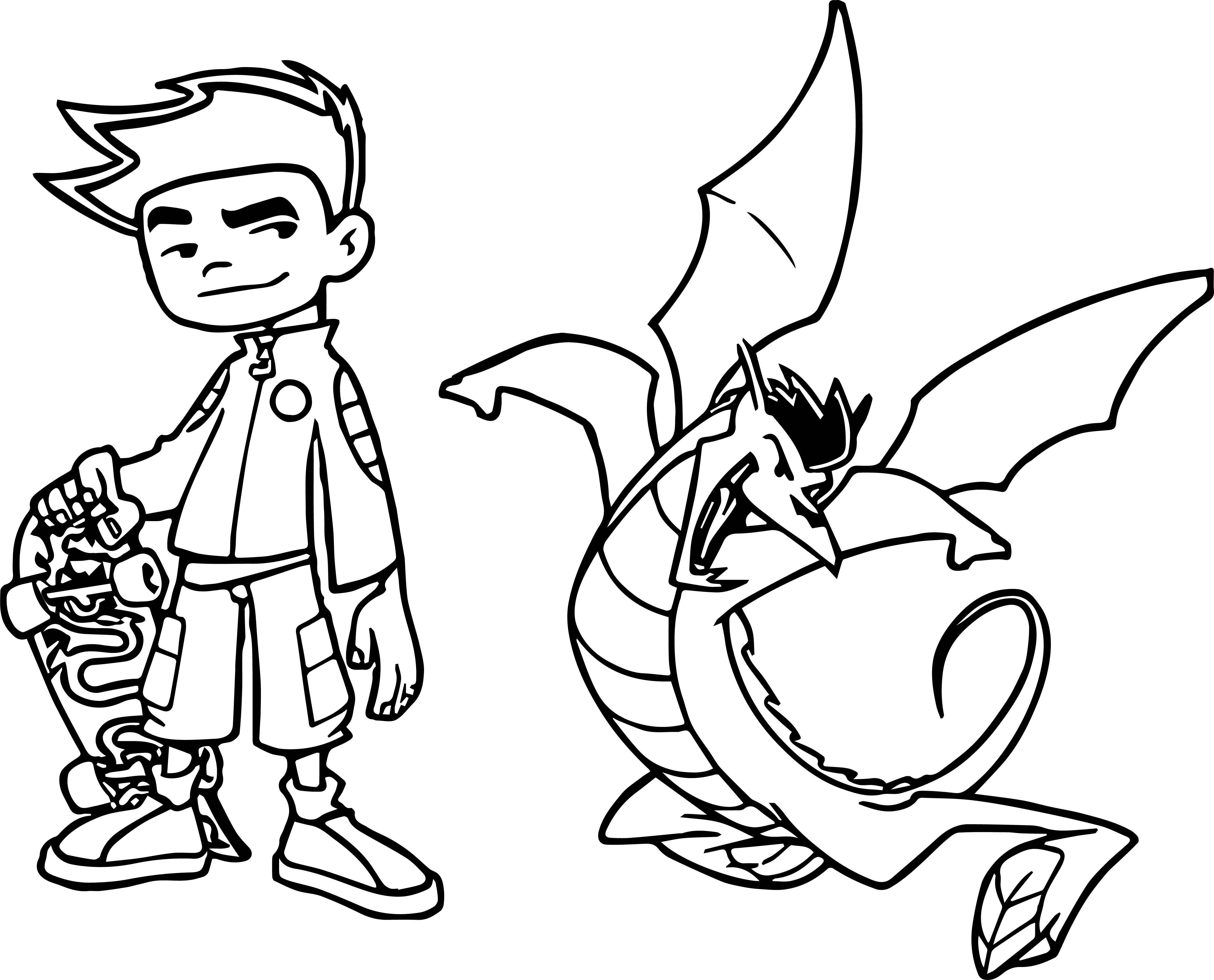 Nice American Dragon Jake Long Kick Coloring Page American Dragon Jake Long Coloring Pages