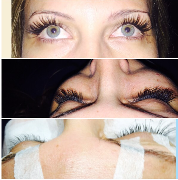 bcd588a4e89 Full Set of lash extensions. These are 1x1 on Colleen. Volume lashes  available.