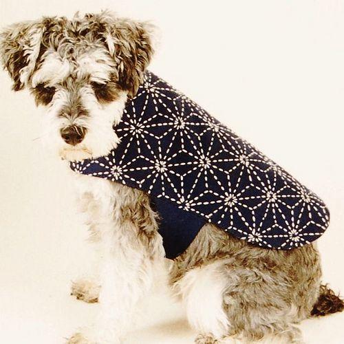 Dog Coat Sashiko Stitched Embroidery Crochet Knitting