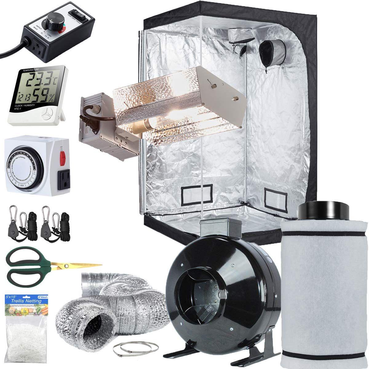 Topolite Grow Tent Setup Complete Kit Cmh 315W Wide Adjust 640 x 480