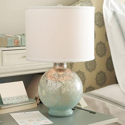 Shimmery Spa Blue Mercury Glass Lamp Beach Decor Pinterest
