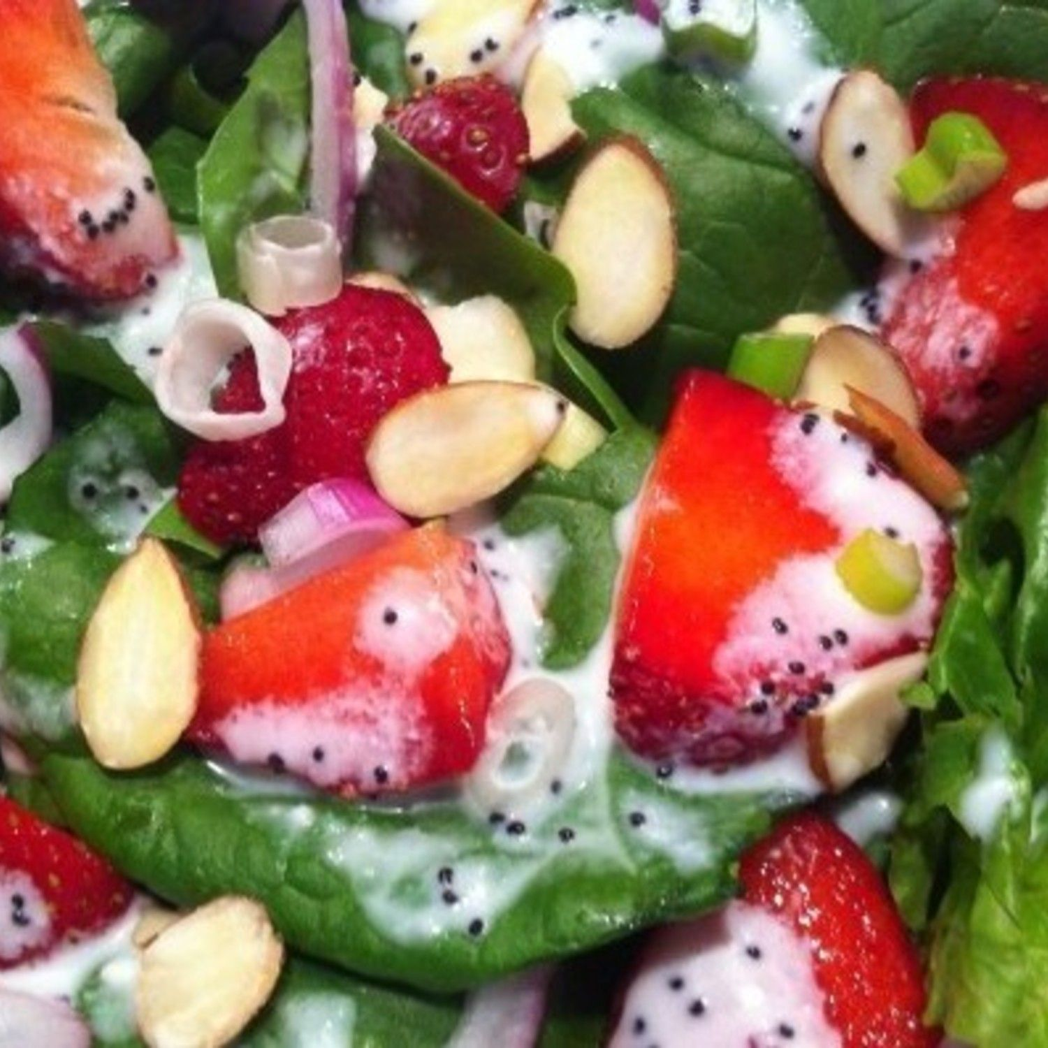 Strawberry Festival Salad Recipe | Just A Pinch Recipes