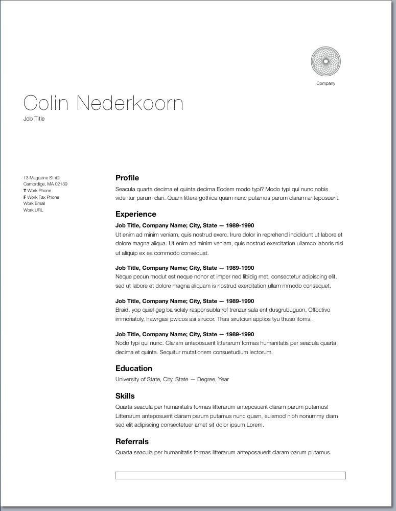 Beautiful Resume Ideas That Work  Template Resume Ideas And