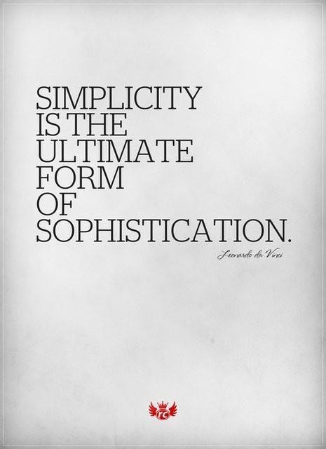 Leonardo Da Vinci Simplicity Is The Ultimate Form Of