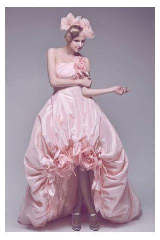 pink taffeta gowns