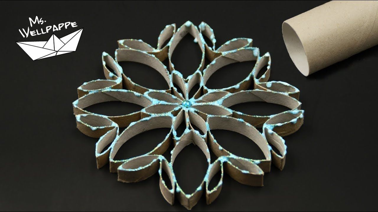 How to make Toilet Paper Roll Snowflakes