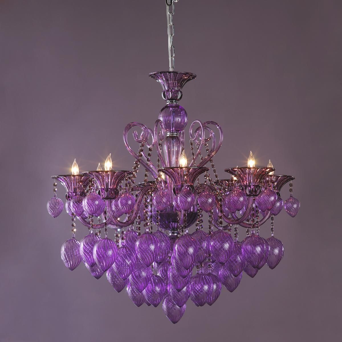 Oversized Murano Glass Chandelier As if one color isn't