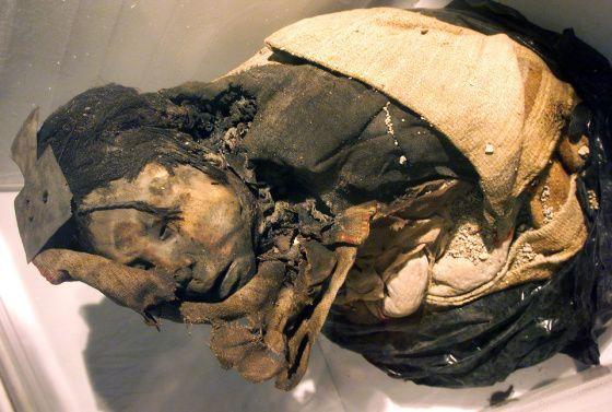Inkat huumasivat lapsiuhrinsa ennen elävältä hautaamista.  Mummified inca child.