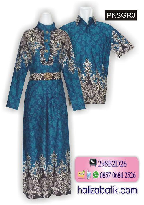 Batik sarimbit modern bahan rayon. Warna dasar tosca. Model gamis batik  lengan panjang cfc6e75055