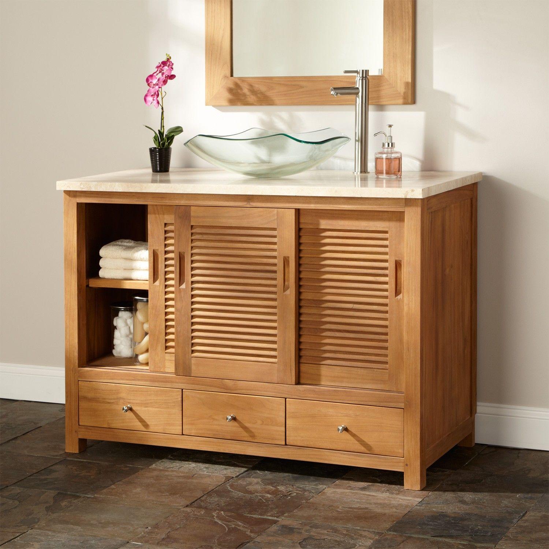 48 Arrey Teak Vessel Sink Vanity