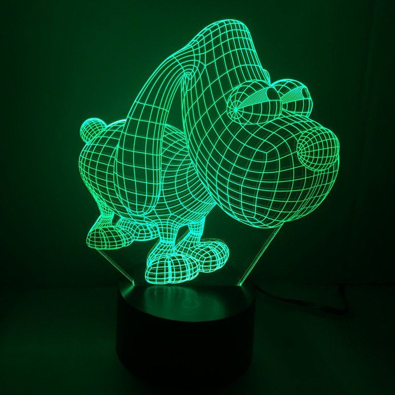 Awesome Dog Night Light Lamp With Images Night Light 3d Night Light Dog Lamp