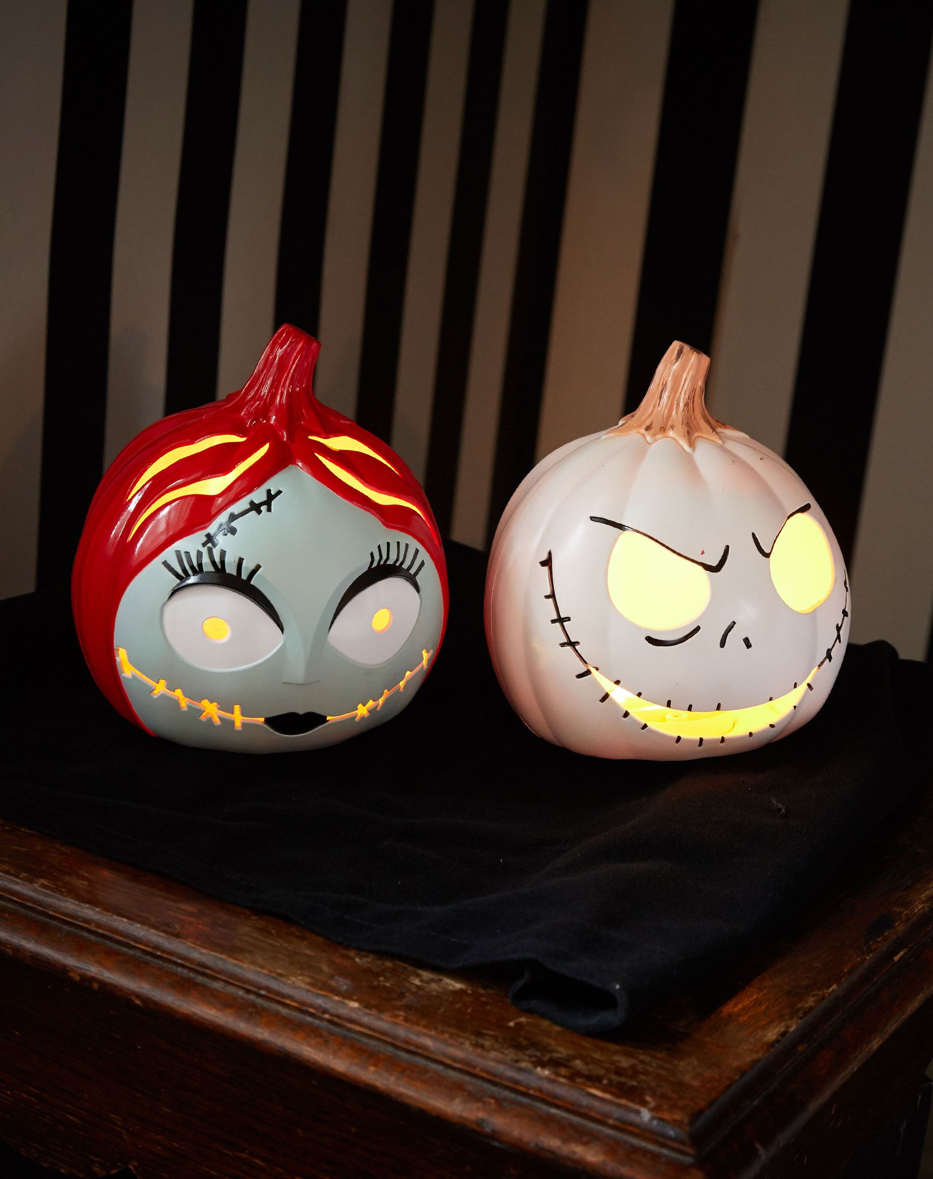 These light up The Nightmare Before Christmas pumpkins are simply ...