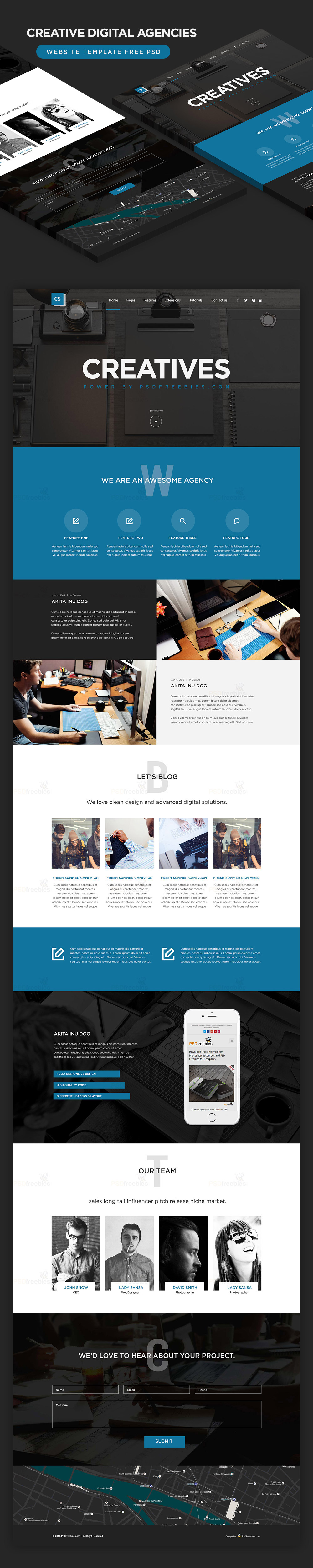 Creative digital agencies website template free psd free psd creative digital agencies website template free psd accmission Gallery