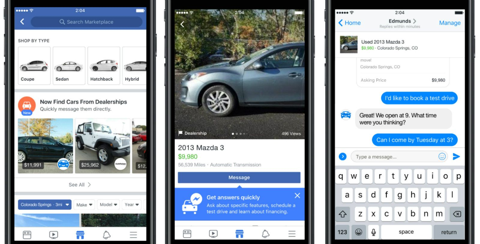 facebook will pull used car ads into its marketplace | car