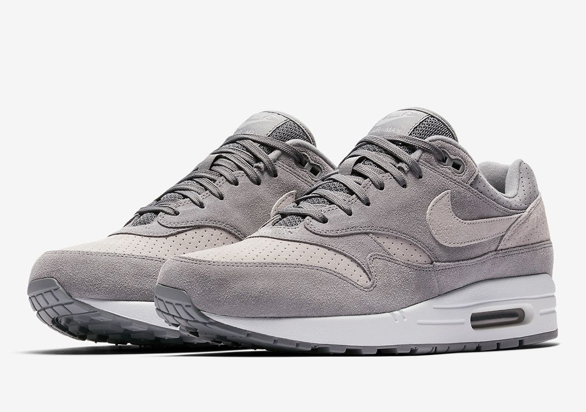 nike air max 1 premium grey suede
