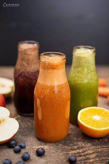 REZEPT: Obst und Gemüsesaft Rezepte dreierlei von cookingCatrin