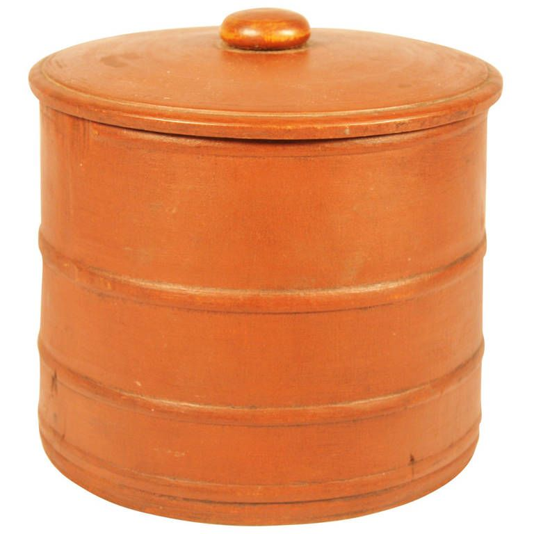 Fine 19th Century Wooden Storage Container with Lid HEIGHT ...