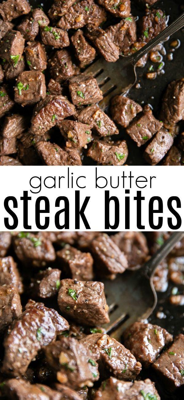 Knoblauchbutter Steak Bites - Best Dinner, Lunch & Dessert Recipes