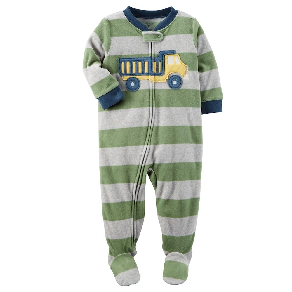 904c59009 Baby Boy Carter s Dump Truck Fleece Footed Pajamas