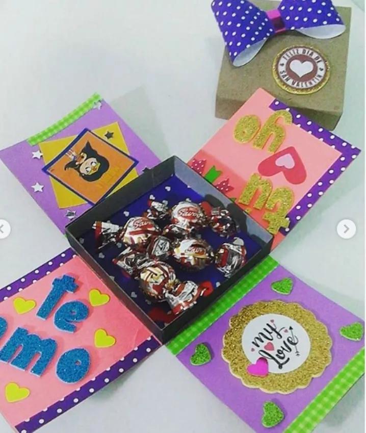 Caja Sorpresa Cumpleaños Regalo Bs 160 000 00 En Mercado Libre Como Hacer Cajas Sorpresa Hacer Cajas De Regalo Cajas De Regalo Sorpresa