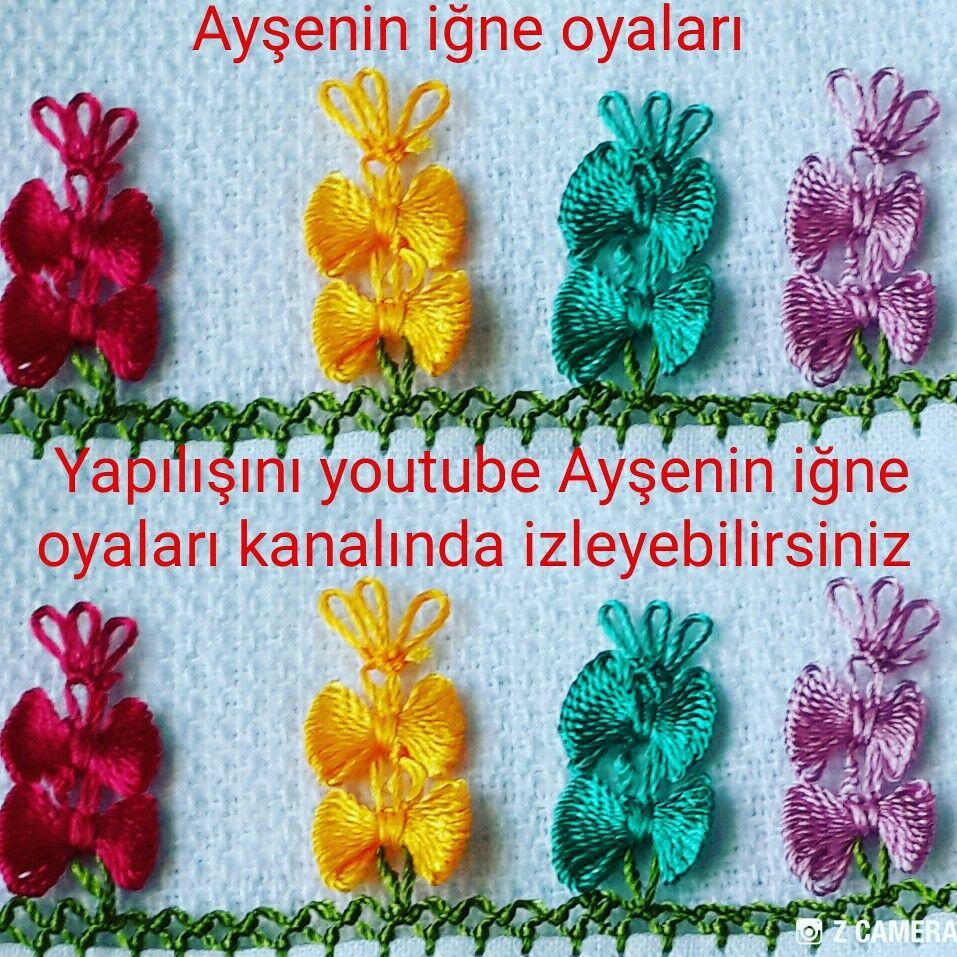 Sıralı İğne Oyası Çelenk Modeli Yapımı Türkçe Anlatımlı Videolu