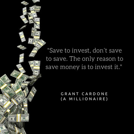 Save To Invest #Quote | Living Off Dividends | Investment quotes