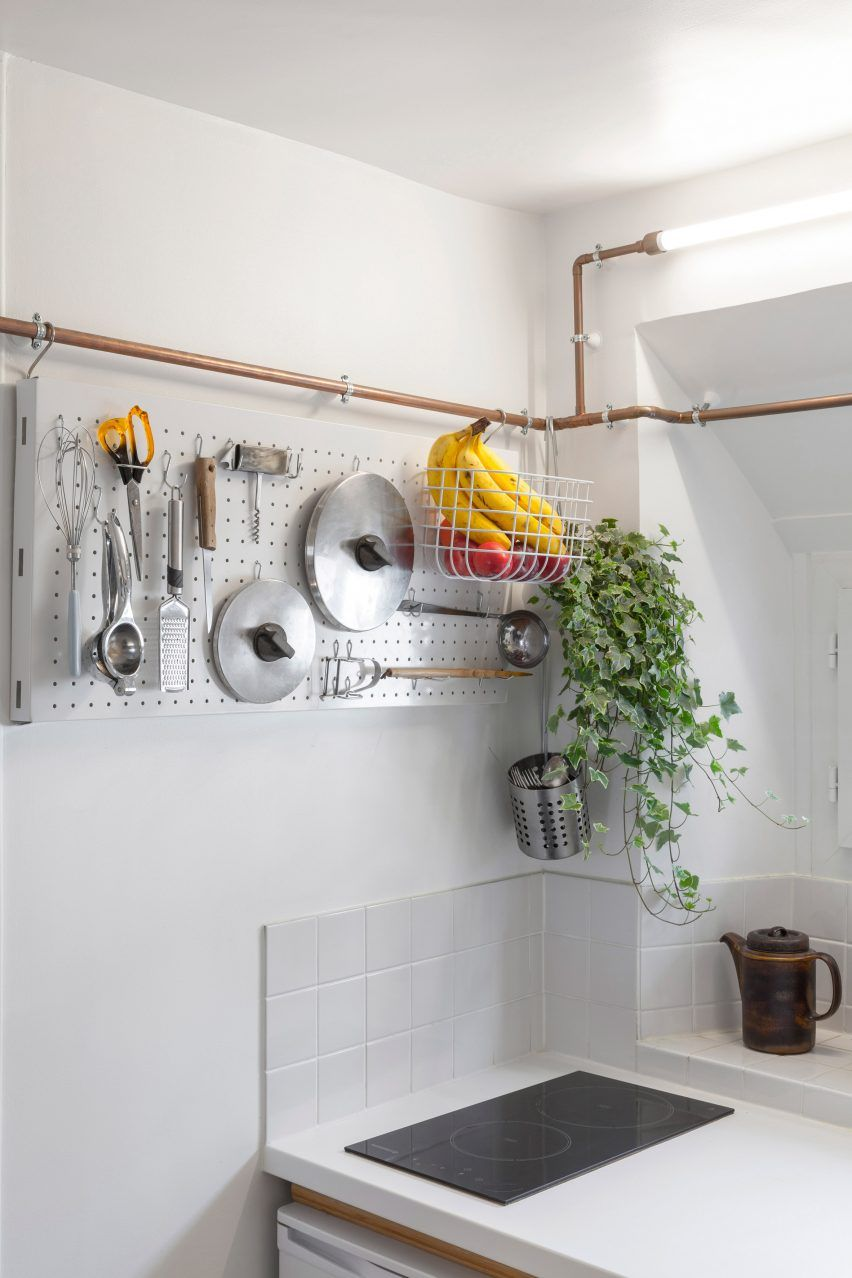 Copper Pipes Create Storage Solutions For Paris Studio Flat By