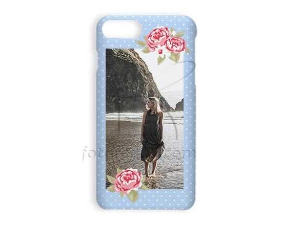Stampa Cover iPhone 7 Plus 3D Shabby blue Iphone 7 plus