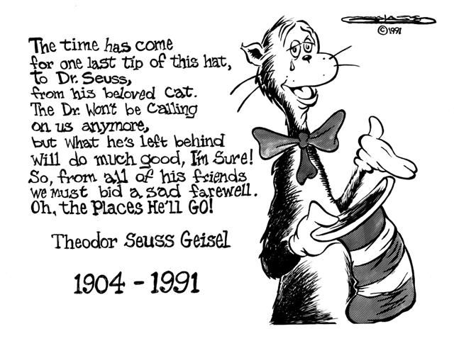 Cat In The Hat Seuss Seuss Quotes Goodbye Poems