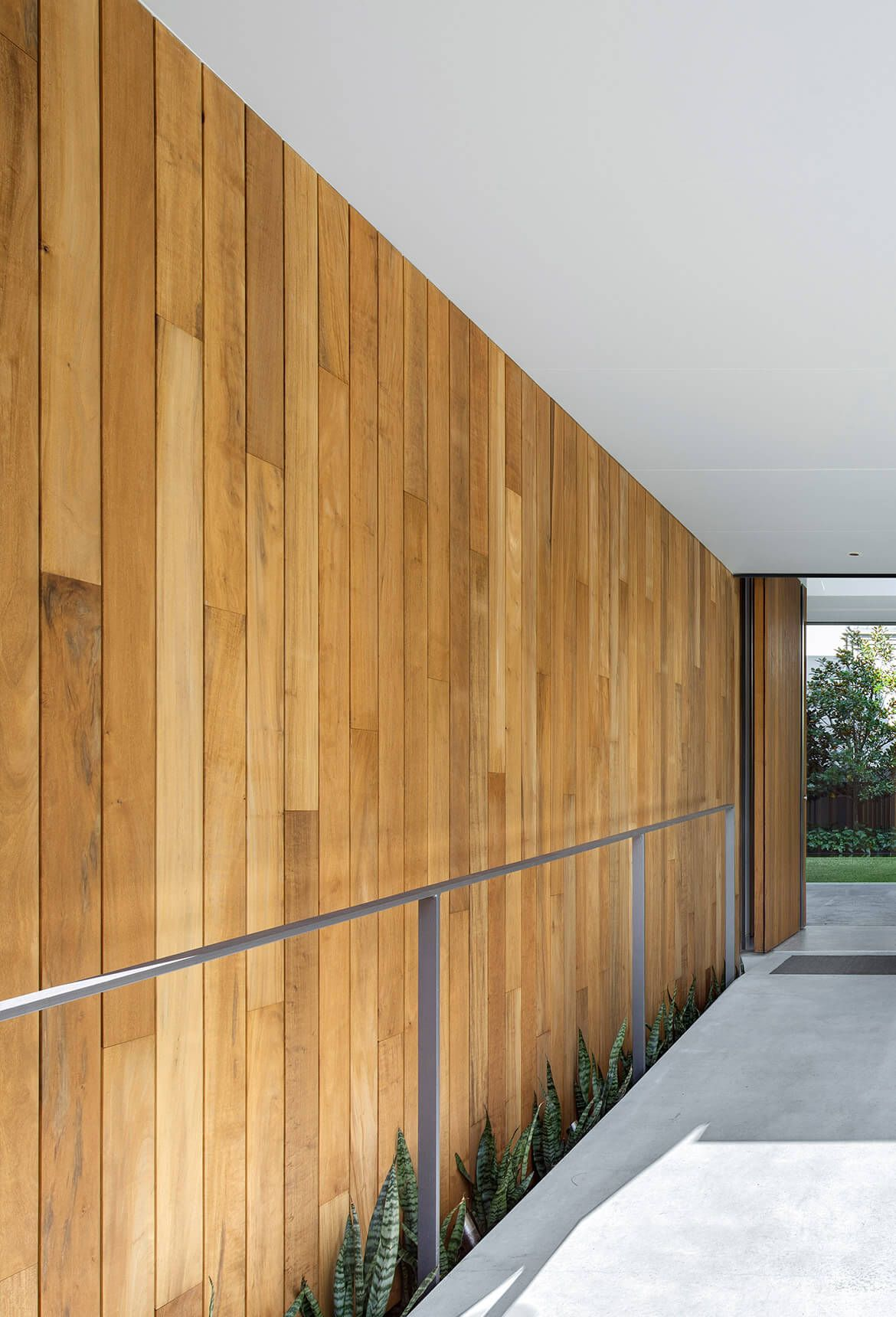 Double Bay House Bay House Timber Feature Wall Timber Cladding