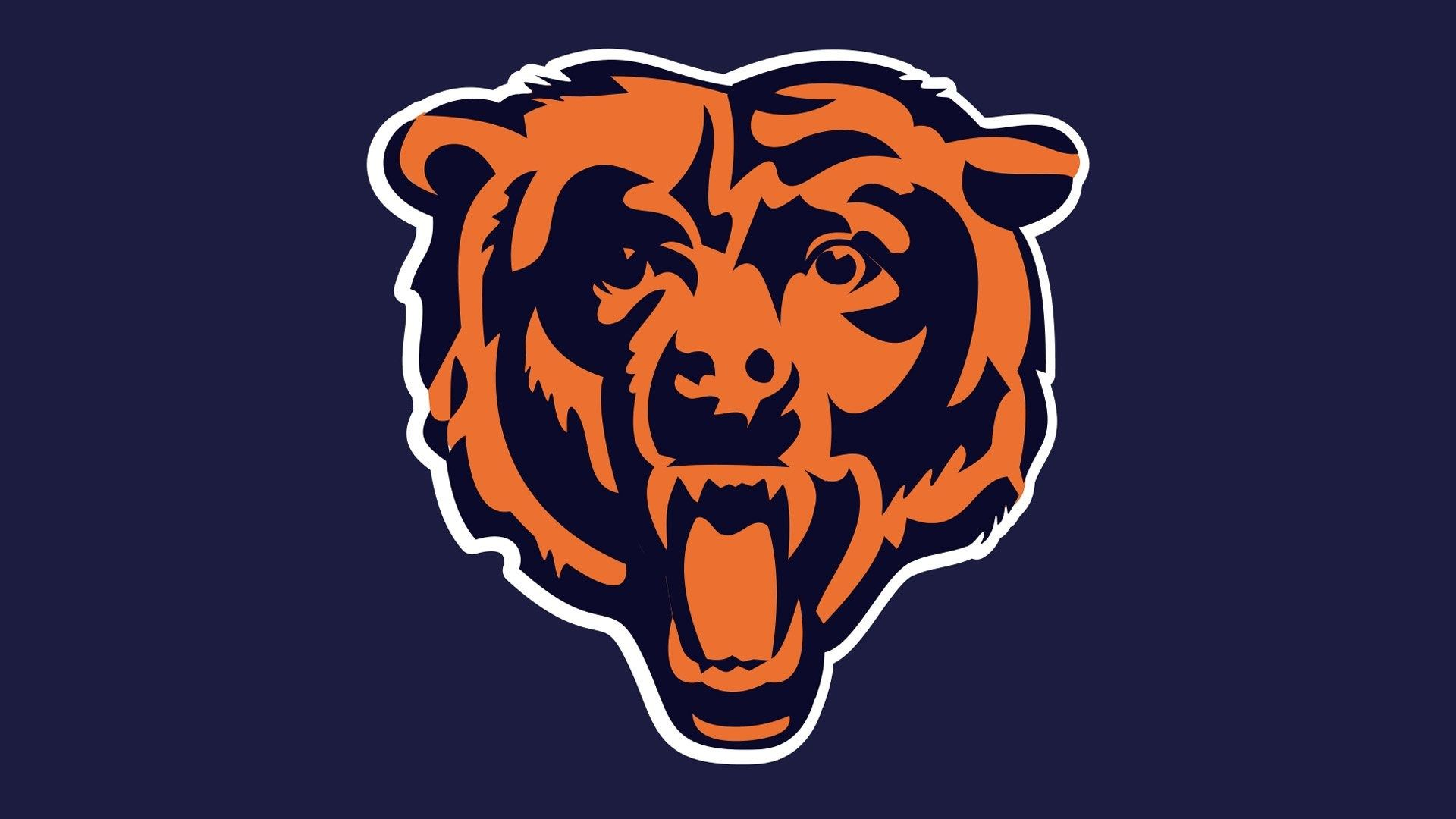 Logo American Football Blinds Wallpaper Sports Field Chicago Bears Bear Image Chicago Bears Logo Chicago Bears Bear Decal
