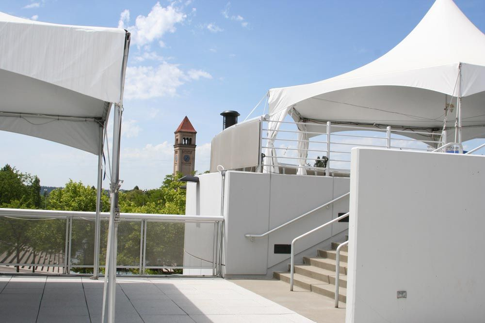 Roof Deck At Spokane Convention Center Is Tented For Great