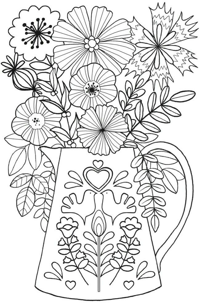 Pin By M Lisa Wilson On Coloring Flower Coloring Pages Coloring Books Free Coloring Pages