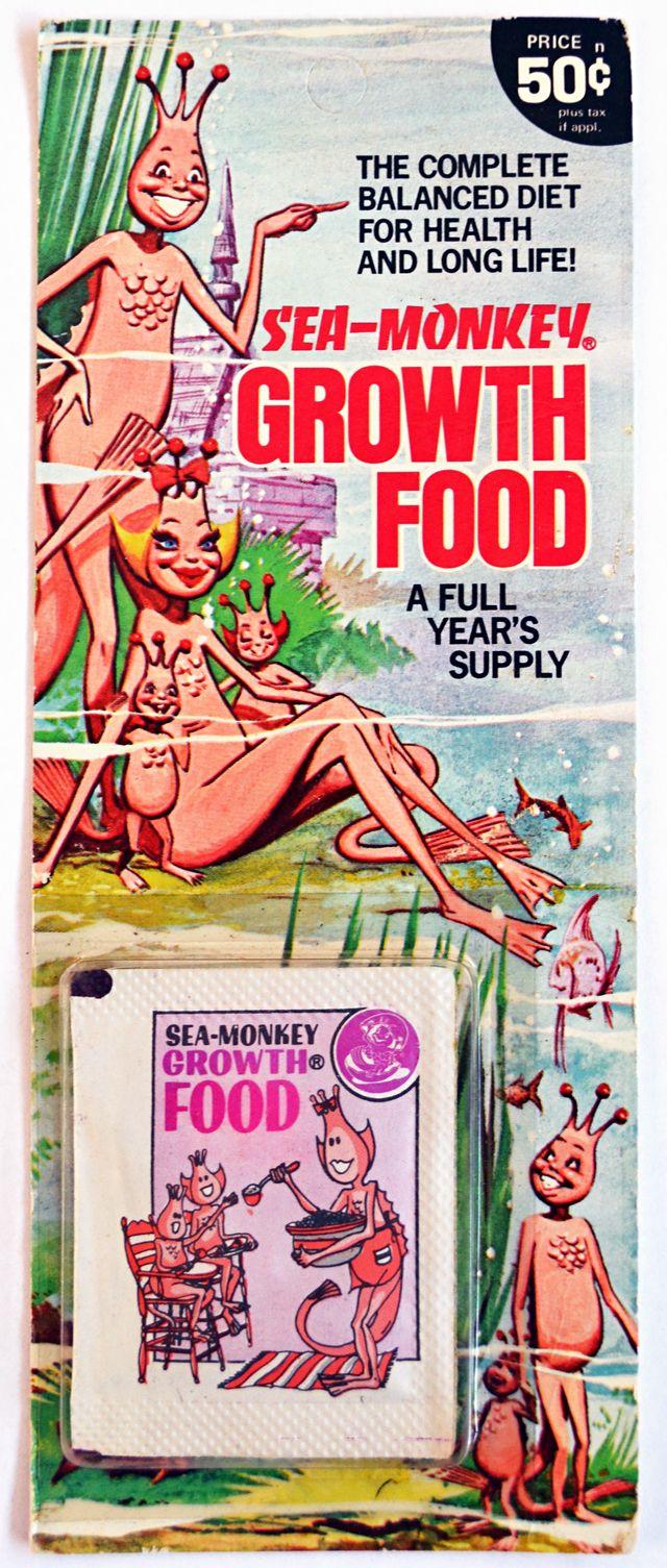 Old Stuff Sea Monkeys Sea Monkeys Monkey Food Monkey